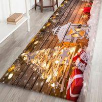 Neujahr Weihnachtsdekor Mats Willkommen Fußmatten Innen Zuhause Teppiche Dekor Navidad Kerst Dekoration 7Color 40x120cm