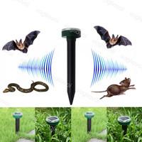 Solarlampen Runder Ultraschall Elektronische Schlange Abstoßende Insektenabwickler Wasserdichte ABS Umweltschutz Für Outdoor Garden Farm DHL