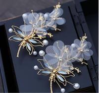 Coiffe or crêpe en épingle à cheveux accessoires vestimentaires accessoires pour cheveux de mariage de mariage coréen accessoires clip de fleurs