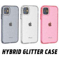 Para iPhone 12 Glitter Capacidad de estuche a prueba de golpes de alta resistencia para iPhone 12 Pro Max 11 Pro XS MAX XR 7 8 PLUS SAMSUNG S20 S21 S30 Plus Nota20