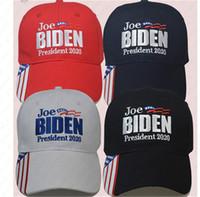 Вышивание Джо Байдена президент 2020 бейсболка 7 Styles американских Избирательная Регулируемые бейсболки Спорт на открытом воздух шлемы Sun Visor Cap D6505