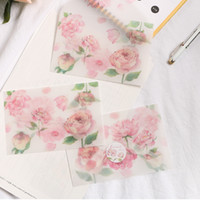 3pcs / pack Rose Vintage Musica Sulphuric Acid Busta di carta Cartolina Photo Storage Matrimonio lettera invito di cancelleria del regalo