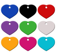 Wholesale 100Pcs Heart Love Personalized Dog Cat Pet ID Tags...