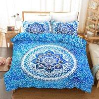 Yatak Takımları 3D Bohemia Mandala Baskı Seti Nevresim Yastık Kılıfı One Piece Comforter Bedclotes Yatak çarşafları 02