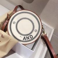 Crossbody Bag bolsa carteira Moda Canvas Circular Double Layer Design As mulheres saco de ombro ajustável Shoulder frete grátis