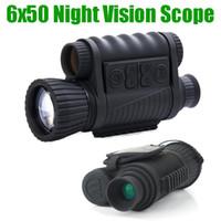 WG650 Night Hunting Цифровой оптический инфракрасный 6X50 ночного видения Монокуляр 200M Диапазон ночного видения телескоп Фото и видео