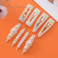 10 teile / lose Simulierte Perle Haarnadel Haarspange Für Frauen Korean Schmuck Mädchen Headwear Gold Farbe Clip Haarnadeln Haarschmuck Hairgrip