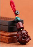 المبدع مايتريا بوذا المفاتيح هدية صغيرة الخشب قلادة فاخرة خشب الورد حبل منسوج السلسلة الرئيسية