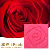 월페이퍼 30x30cm 3D 아트 벽 패널 물결 모양의 장미 나무 조각 꽃 곡선 양각 된 진주 빛 다채로운 결혼식 장식 벽지