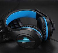 G90 سماعة الألعاب سماعات رأس الألعاب فوق الأذن المحيطي تخفيض الضوضاء ستيريو مع ميكروفون كابل USB LED لنينتندو التبديل لعبة الكمبيوتر في المربع