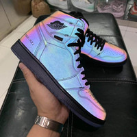New High Zoom Fearless 1 Mens scarpe da basket 1s R2T Chameleon 3M Reflective Uomini Jumpman Zapatos Designer Sport Sneakers Trainers 36-45