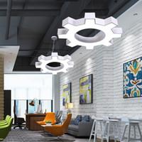 Neue Industrie Stil Büro Kronleuchter führte Kunst Lampe moderne minimalistische Lampe Internet-Café Turnhalle Eisen kreativen Ganges