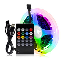 RGB cambiable USB tira de LED 5050 Luz DIY LED flexible de control de Bluetooth / Música Control de TV LED de iluminación de fondo