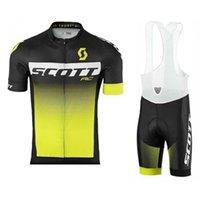 2020 Scott Cycling Jersey 세트 여름 통기성 산악 자전거 셔츠 팀 반바지 슈트 빠른 건조한 남자 짧은 소매 자전거 의류 K121606