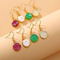 Dangle Chandelier Gold Titanium Druzy Handmade Jewelry Design Orecchino per le donne