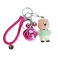 Korean Fashion Cartoon Bär Schlüsselanhänger Kreative Cute Strawberry Bears Schlüsselbund Schlüsselbund Tasche Geldbörse Charme Geburtstagsgeschenk für Frauen 00657
