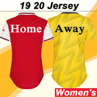 2019 2020 Women Soccer Jerseys Home Red Away Yellow Short Sl...