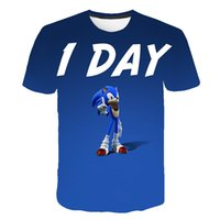 Luxury Japanese Sonic Anime Series Youth Print Short Sleeve 3D Harajuku Cartoon T-shirt Summer Promotion Fashion Parent-child Clothing