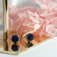 Rotondi Kyanite Orecchini S925 argento orecchini per le donne