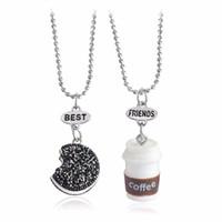 Best Buds Best Friend Collier Colliers mignons BFF de lait et de biscuits, amitié Ensemble de 2