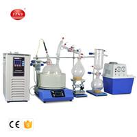 ZZKD Escala de Laboratório Pequeno Equipamento de Destilação de Curto Caminho 5L Curto Caminho de Destilação de Chiller E Bombas de Vácuo