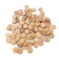 20 мм природные плоские круглые бусины деревянные прорезыватель незавершенной DIY аксессуары щепа круги деревянные диски детские игрушки