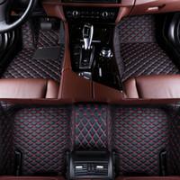 2019 Nueva PU coche tapetes de cuero para CRV Honda Accord Crosstour XRV Odyssey Ciudad coche Crider VEZEL antideslizante alfombra de estilo de coches