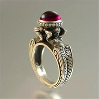 Fashion Best Selling Mermaid Red Stone Rings Euramerican Cre...