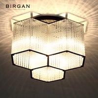 LED Moderne Deckenleuchte Hexagon hängende Kristalllampe Erröten-Einfassung Licht Leuchte für Wohnzimmer Schlafzimmer Cafe Bar-Deckenleuchte