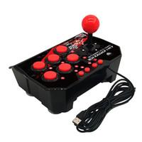 4 in 1 USB Rocker Game Controller Arcade Joystick Gamepad Street Fighting Stick voor PS3 / PC voor Switch NS voor Android Plug