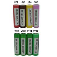 500PCS 100 % 고품질 INR 25R 30Q VTC4 VTC5 VTC6 HE2 HE4 HG2 18650 배터리 2100mAh 2500mAh 2600mAh 3000mAh 3.7V 충전식 리튬