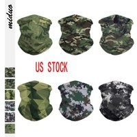 US STOCK Camo 3D printed Seamless Face Mask Mouth Cover Bandanas for Dust, Outdoors, Sports Fishing Running headbands for men wome FY6005