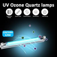 6 Вт 8 Вт УФ светодиодная лампа бактерицидный стерилизатор 110 в 220 В ультрафиолетовый кварцевый линейный свет генератор озона дезинфекция дезодорант бар трубка