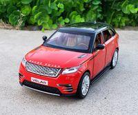 1:32 Масштаб Diecast Сплав металла Роскошный внедорожник Модель автомобиля для Range Rover Велар Collection Внедорожник Модель SoundLight игрушки автомобилей