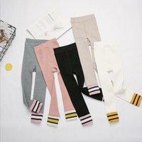 الفتيات اللباس الاطفال الملونة الشريط سروال الجوارب كاندي اللون تمتد لينة محبوك الجوارب أسفل الأطفال مطاطا عادية جوارب CYP529