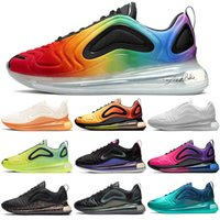 Nike Air Max 720 airmax shoes Unisexe Baskets Nouvelles Chaussures De Course Rree Shipping BETRUE Iridescent Mesh Pride Total Eclipse Carburant Orang Obsidian Volt Hommes Formateur