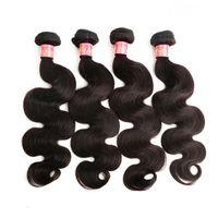 Bella Hair® Body Wave 100% Péruvien Bonds Bundles Virgin Natural Couleur Wavy Teins Theft 8 ~ 30inch 4pcs / Lot