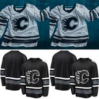Calgary Flames 2019 All-Star-Spieltrikot Herren 5 Mark Giordano 13 Johnny Gaudreau 18 James Neal Matthew Tkachuk Sean Monahan Eishockeytrikots