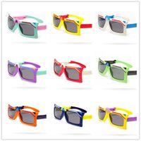 Crianças Óculos De Sol Dobrável Flip Transformador Forma Polarizada Óculos De Sol Anti-UV Óculos De Sol Óculos de Sol para o Bebê Da Menina do Menino 3-12 T