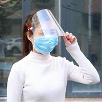 Em estoque transparente anti-gotícias à prova de poeira proteger face completa cobrindo máscara escudo de viseira parar o cuspe voador prevenir 1 pcs
