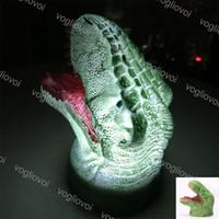 Novedad iluminación 3d colorido dinosaurio luces nocturno palmado realmado vivo boca led juguete dormitorio decoración lámpara mesa niño halloween decoraciones DHL