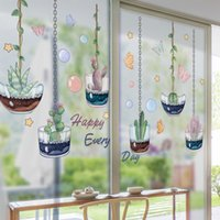 [shijuekongjian] Potted Plant Wall Stickers DIY Succulent Bonsai Wall Decals for Kids Room Baby Bedroom Nursery Home Decoration