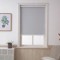 Anpassad storlek Grå Blackout Roller persienner Borrsystem Kontor Kök Bedrum Halv eller Full Shade Quality Window Blinds