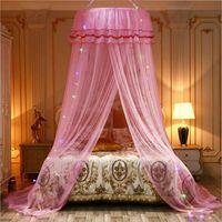 Elegantes Baldachin-Moskitonetz für doppelte volle Queen-Bett-Bett-Moskitosabweisungszelt Insekt-Ablehnungsvorhang Vorhang mit Licht