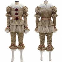 Латекс Глава Два костюма клоуна костюмы Хэллоуина маски + Ткань Косплей Hot Movie Это Pennywise Маска Стивена Кинга Взрослые Дети