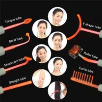 O crescimento do cabelo de alta freqüência portátil Dispositivo Facial Acne removedor de Spot Facial Anti-inflammator Com 7 vidro Eletrodos Sondas