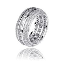 الرجال خواتم الخطبة زفاف رجل مثلج خارج خاتم من الذهب والفضة خاتم الحب خاتم الماس مجوهرات خواتم المرأة الأزياء والإكسسوارات