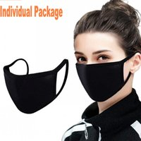 Adjustable Anti Dust Face Mask, Black Cotton Mouth Mask Muffl...