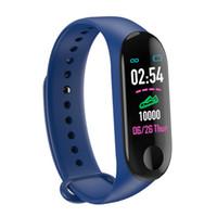 M3 Smart-Armband Bluetooth Sport intelligente Armbanduhr Blutdruck-Puls-Monitor-Armbanduhr Fitness Tracker Pedometer für Android iOS