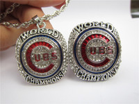 Chicago 2016 Cubs World Baseball Championship Ring Pendant N...